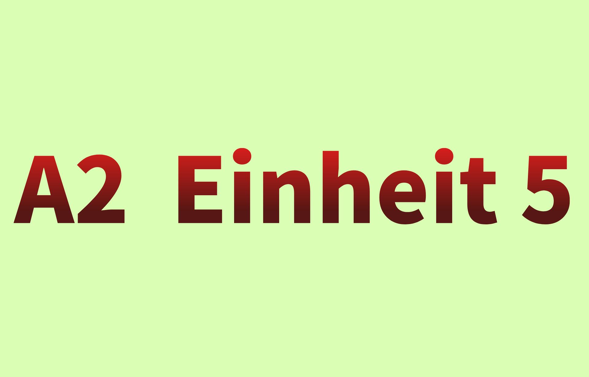 A2  Einheit 5
